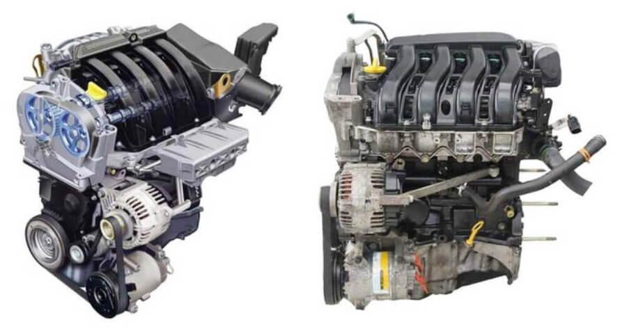 двигатель k4m с двух ракурсов