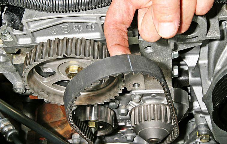 ремень грм двигателя рено логан