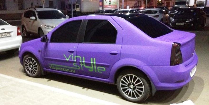 фиолетовый рено логан