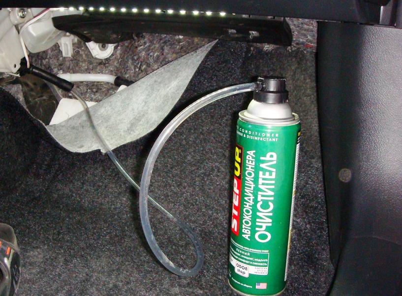 спрей для очистки кондиционера логана от запаха