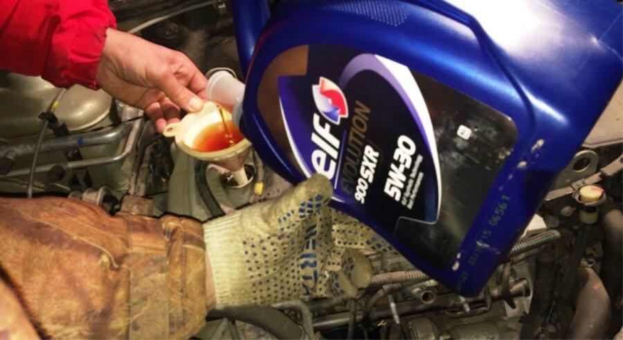 замена масла двигателя на рено логан