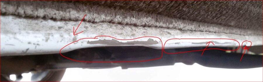 повреждения порогов рено логан б/у