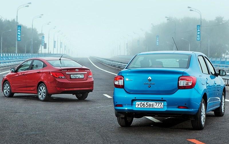 Hyundai Solaris и Renault Logan