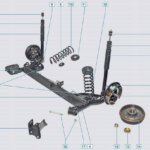 Устройство и схема ремонта передней подвески Рено Логан
