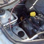 Проверка подушек двигателя логан