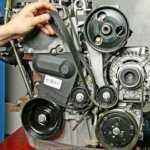 Замена ремня дополнительного оборудования Рено Логан